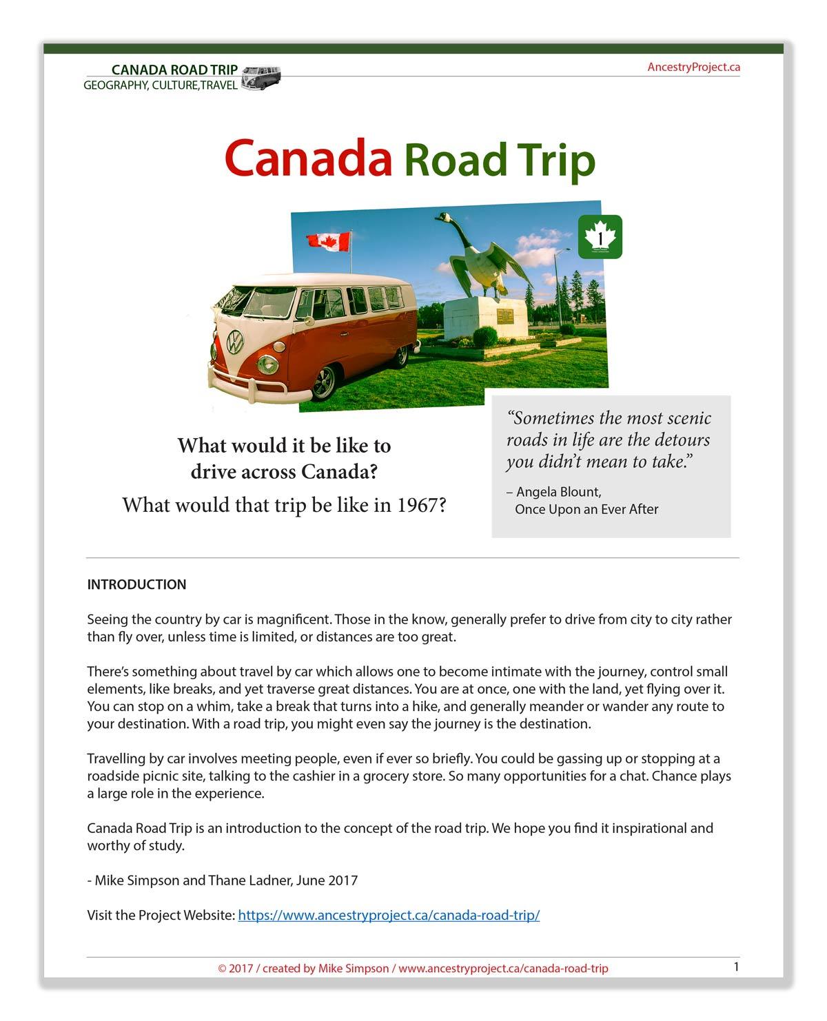 Canada Road Trip PDF preview