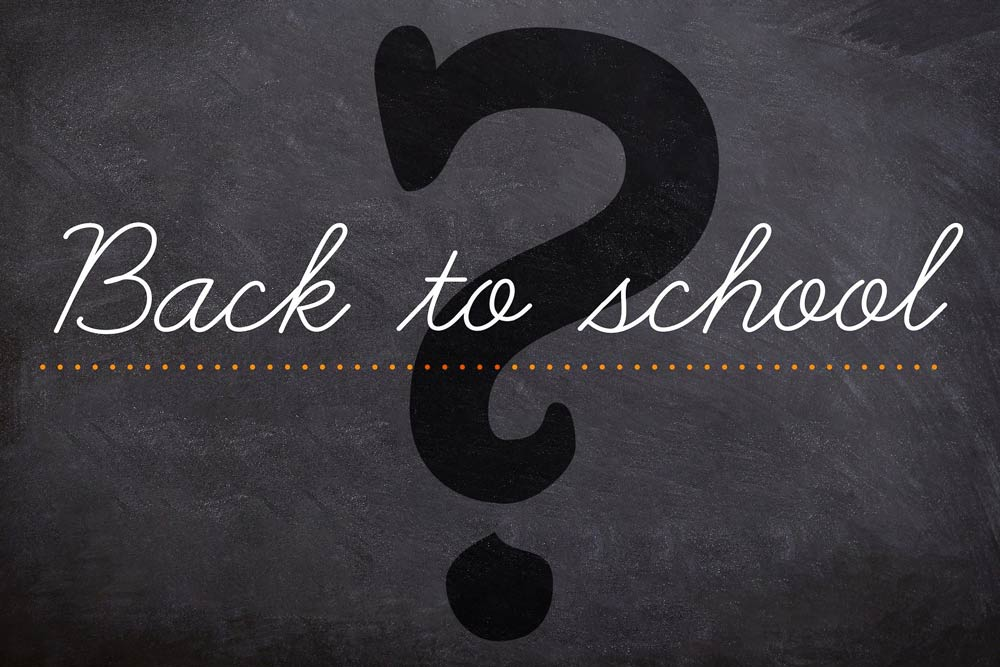Back to school question mark image