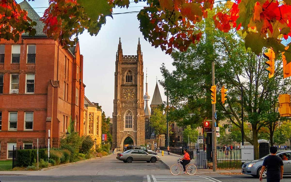 University of Toronto in Ontario, Canada during fall